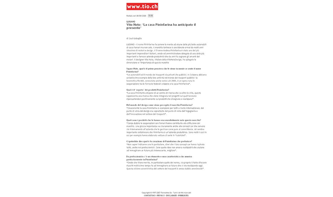 Articolo in PDF di TicinOnline - vitonotodesign
